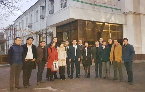 """About the visit to the Museum of Health named after  K.S. Zairov group 43b-17 GKK Department of """"Geodesy and Cadastre"""" Tashkent Architecture and Construction Institute"""