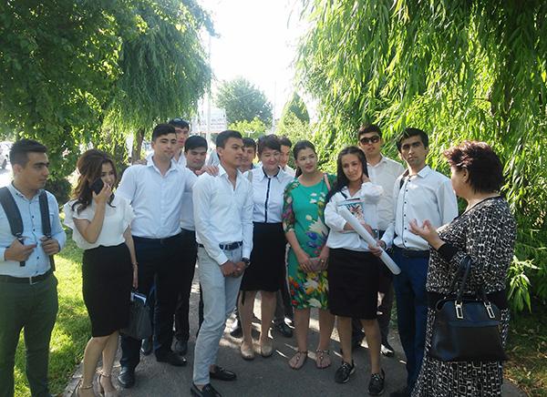 Toshkent shahri ob'yektlariga ekskursiya tashkil etildi