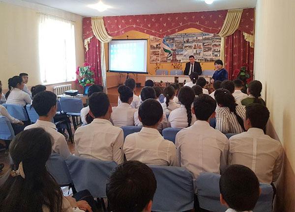 Toshkent viloyati Zangiota tumani 24-umumta'lim maktabiga tashrif