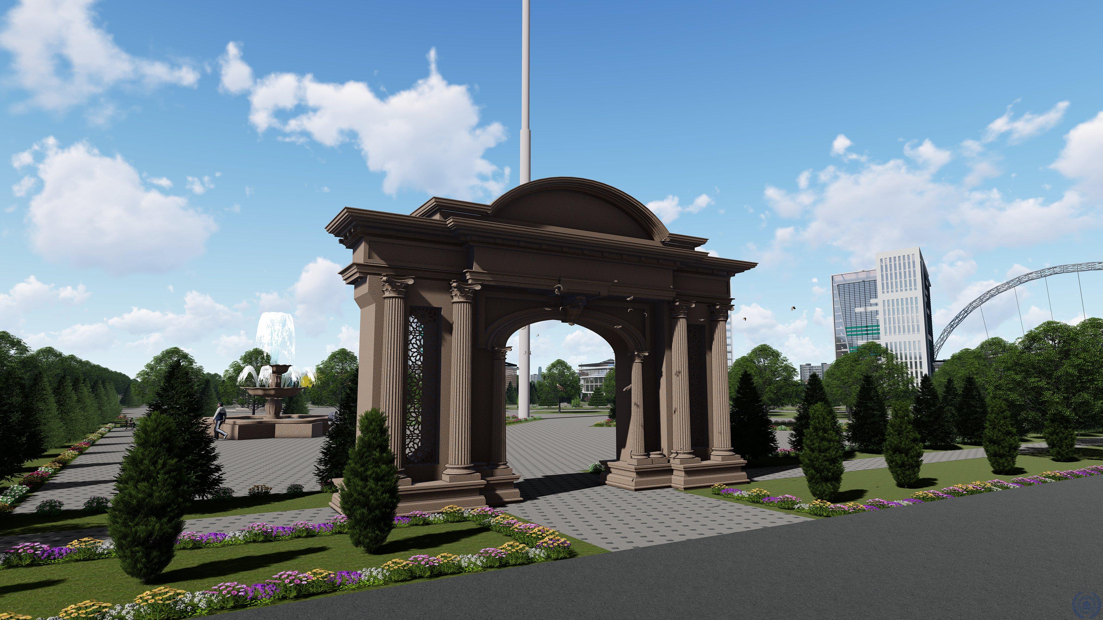 Navoiy shahri markazi uchun ko'ngilochar park loyihasi