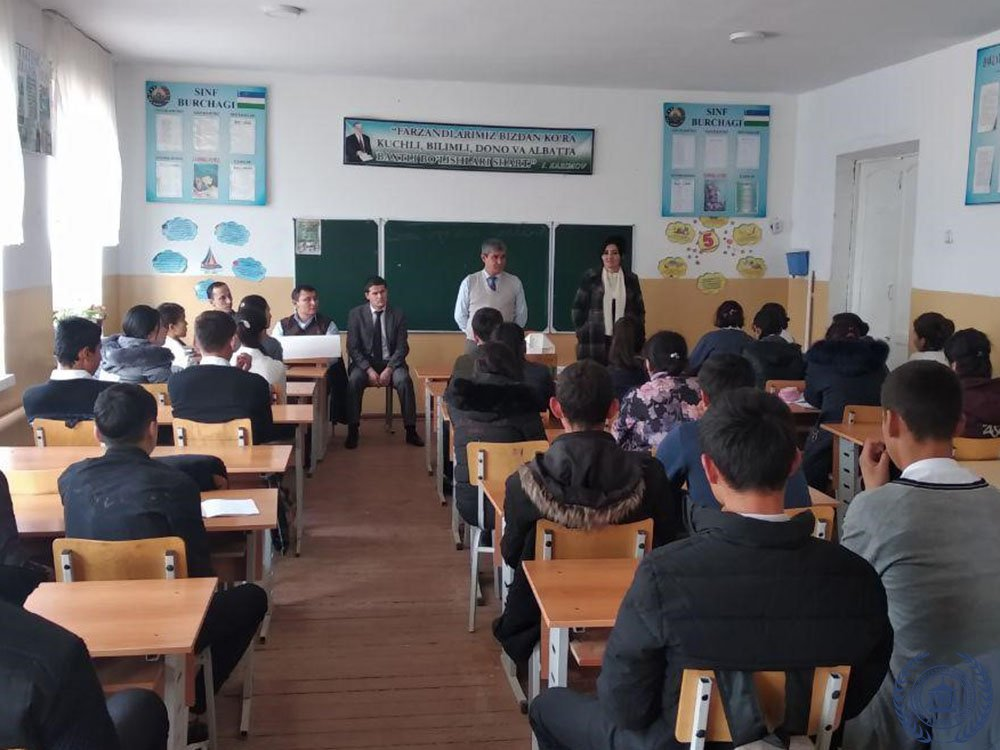 "Conducted events in the Tashkent region of the Zangiotinsky district on the topic of ""Professional Guidance - The Role of Graphic Programs"" on 3- 5 government initiatives."