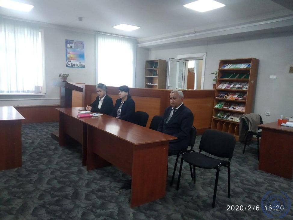 """6-fevral kuni institutimizda """"Deputat va yoshlar"""" uchrashuvi o'tkazildi"""