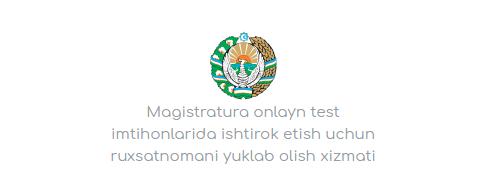 Magistratura abiturientlari diqqatiga
